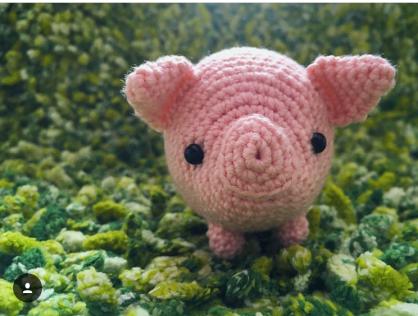 Ein Schweinchen auf einer Wiese, wie schön!