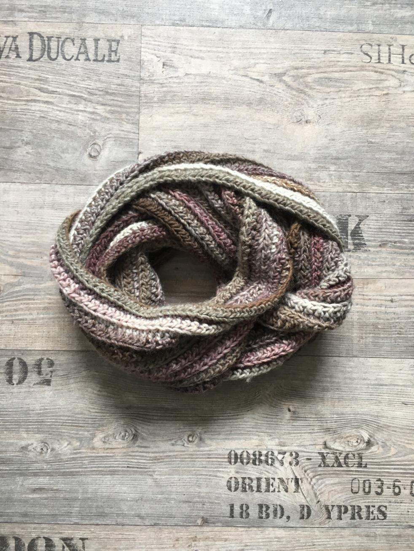 Grundanleitung Für Einen Gehäkelten Loop In Strickoptik Marblerie