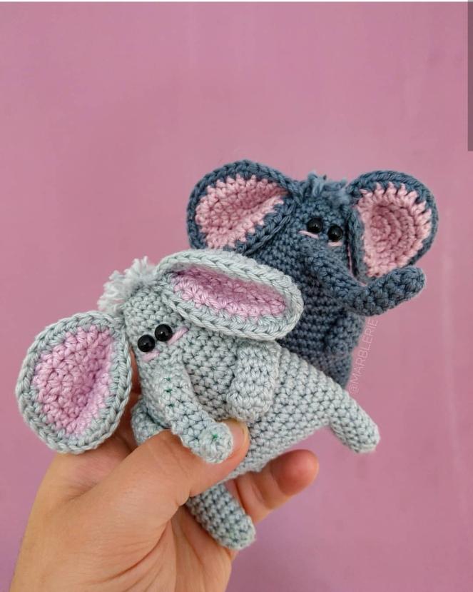 Häkelanleitung Finn, der Elefant – marblerie
